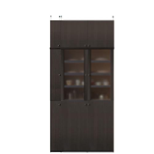 薄型食品ストッカー高さ226~235cm幅15~24cm奥行19cm厚棚板(棚板厚2.5cm)(高さ=ラック高さ178cm+突っ張り棚高さ41cm+伸縮突っ張り金具)木製片開き扉薄型食品ストッカー