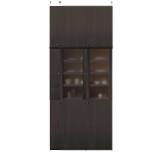 薄型食品保管棚高さ250~259cm幅15~24cm奥行19cm厚棚板(棚板厚2.5cm)(高さ=ラック高さ178cm+突っ張り棚高さ65cm+伸縮突っ張り金具)木製片開き扉薄型食品保管棚