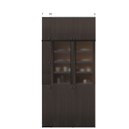 木製食品ストッカー高さ226~235cm幅15~24cm奥行31cm厚棚板(棚板厚み2.5cm)(高さ=ラック高さ178cm+突っ張り棚高さ41cm+伸縮突っ張り金具)木製片開き扉木製食品ストッカー