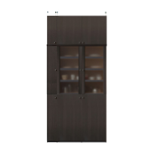 木製キッチン隙間収納庫高さ232~241cm幅15~24cm奥行31cm(高さ=ラック高さ178cm+突っ張り棚高さ47cm+伸縮突っ張り金具)木製片開き扉木製キッチン隙間収納庫