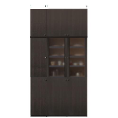 木製食品ストッカー高さ241~250cm幅30~44cm奥行31cm厚棚板(棚板厚2.5cm)(高さ=ラック高さ178cm+突っ張り棚高さ56cm+伸縮突っ張り金具)木製片開き扉木製食品ストッカー