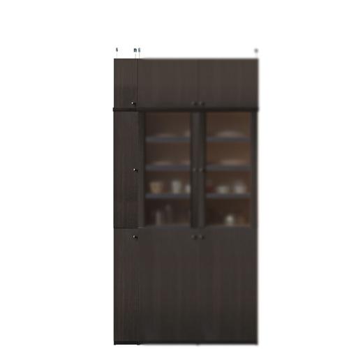 突っ張り式キッチンキャビネット高さ217~226cm幅15~24cm奥行40cm(高さ=ラック高さ178cm+突っ張り棚高さ32cm+伸縮突っ張り金具)木製片開き扉突っ張り式キッチンキャビネット