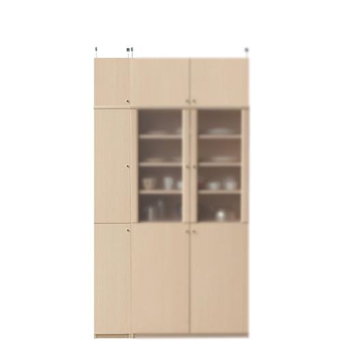 扉付キッチンスリムストッカー高さ217~226cm幅25~29cm奥行40cm(高さ=ラック高さ178cm+突っ張り棚高さ32cm+伸縮突っ張り金具)木製片開き扉扉付キッチンスリムストッカー