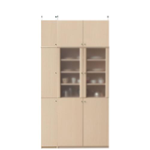 深型台所収納棚高さ226~235cm幅25~29cm奥行46cm厚棚板(棚板厚2.5cm)(高さ=ラック高さ178cm+突っ張り棚高さ41cm+伸縮突っ張り金具)木製片開き扉深型台所収納棚