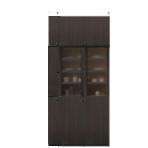 深型キッチンスリムストッカー高さ232~241cm幅15~24cm奥行46cm厚棚板(棚板厚2.5cm)(高さ=ラック高さ178cm+突っ張り棚高さ47cm+伸縮突っ張り金具)木製片開き扉深型キッチンスリムストッカー