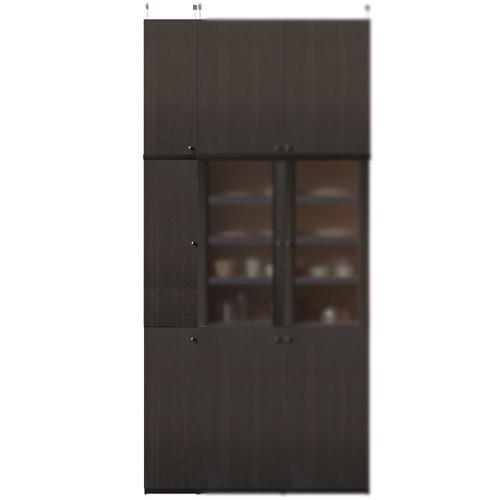 深型キッチンキャビネット高さ250~259cm幅25~29cm奥行46cm厚棚板(棚板厚2.5cm)(高さ=ラック高さ178cm+突っ張り棚高さ65cm+伸縮突っ張り金具)木製片開き扉深型キッチンキャビネット
