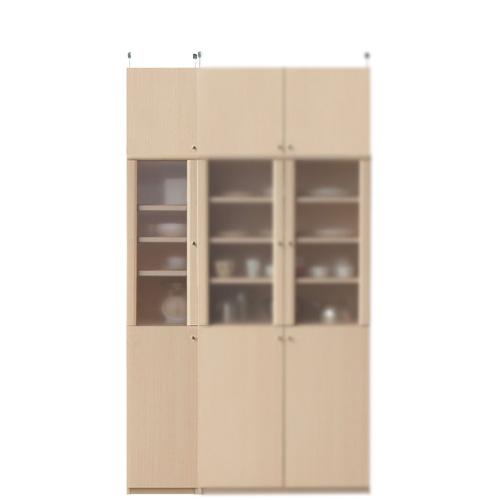 浅型隙間食器棚高さ226~235cm幅30~44cm奥行19cm(高さ=ラック高さ178cm+突っ張り棚高さ41cm+伸縮突っ張り金具)半透明片開き扉浅型隙間食器棚