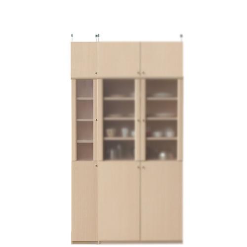 ナチュラルキッチンキャビネット高さ217~226cm幅25~29cm奥行31cm(高さ=ラック高さ178cm+突っ張り棚高さ32cm+伸縮突っ張り金具)半透明片開き扉ナチュラルキッチンキャビネット