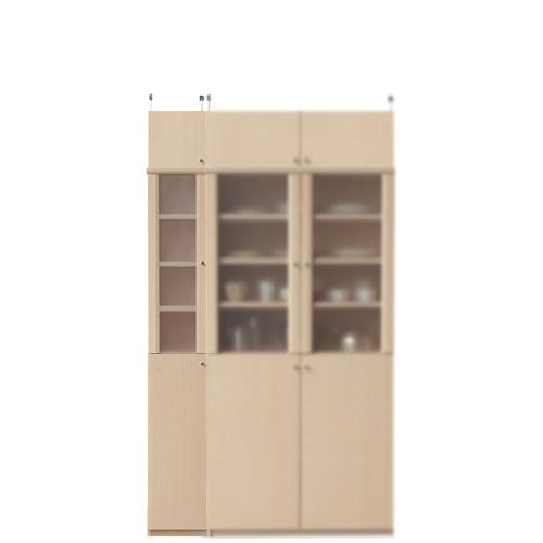 台所多目的収納棚高さ208~217cm幅25~29cm奥行40cm厚棚板(耐荷重30Kg)(高さ=ラック高さ178cm+突っ張り棚高さ23cm+伸縮突っ張り金具)半透明片開き扉台所多目的収納棚