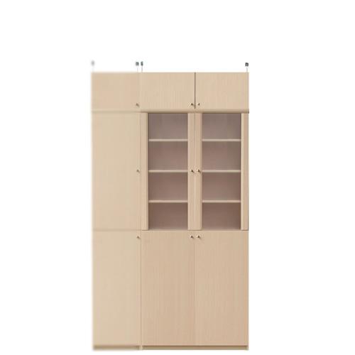 扉付き薄型食器棚高さ208~217cm幅71~80cm奥行19cm厚棚板(耐荷重30Kg)(高さ=ラック高さ178cm+突っ張り棚高さ23cm+伸縮突っ張り金具)半透明両開き扉扉付き薄型食器棚