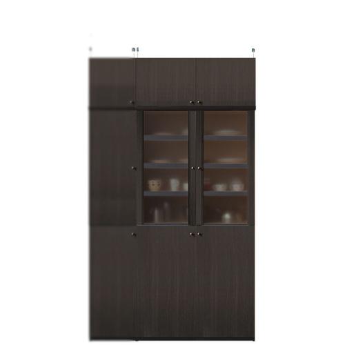 扉付き薄型食器棚高さ217~226cm幅81~90cm奥行19cm厚棚板(棚板厚2.5cm)(高さ=ラック高さ178cm+突っ張り棚高さ32cm+伸縮突っ張り金具)半透明両開き扉扉付き薄型食器棚