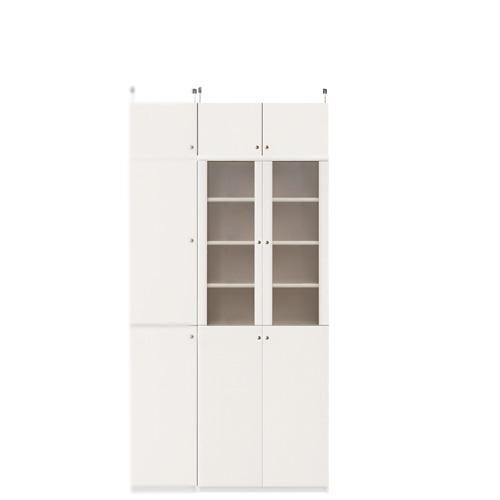 木製キッチンボード高さ208~217cm幅60~70cm奥行40cm(高さ=ラック高さ178cm+突っ張り棚高さ23cm+伸縮突っ張り金具)半透明両開き扉木製キッチンボード