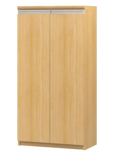 フラット扉ビデオ収納 高さ117cm幅45~59cm奥行19cm 両開き フラット扉付図書コーナー家具