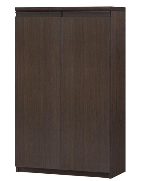 フラット扉全面扉付木製チェスト 高さ117cm幅60~70cm奥行40cm 両開き フラット扉付オフィスボード