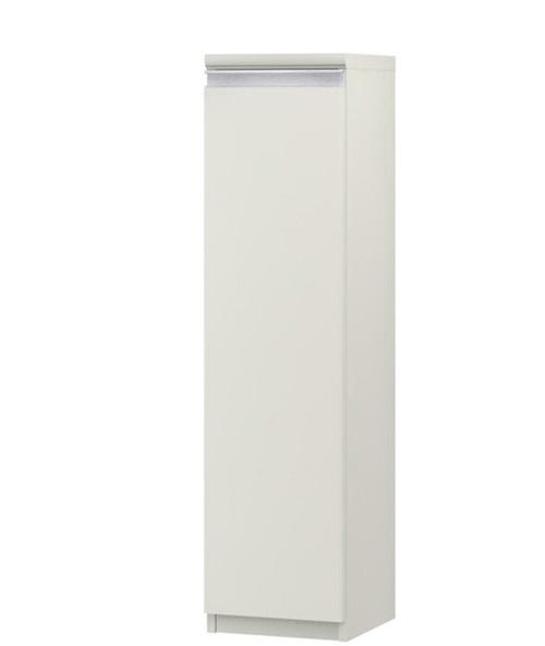 フラット扉リビング隙間収納 高さ117cm幅25~29cm奥行46cm 片開き(左開き/右開き) フラット扉付キッチンボード