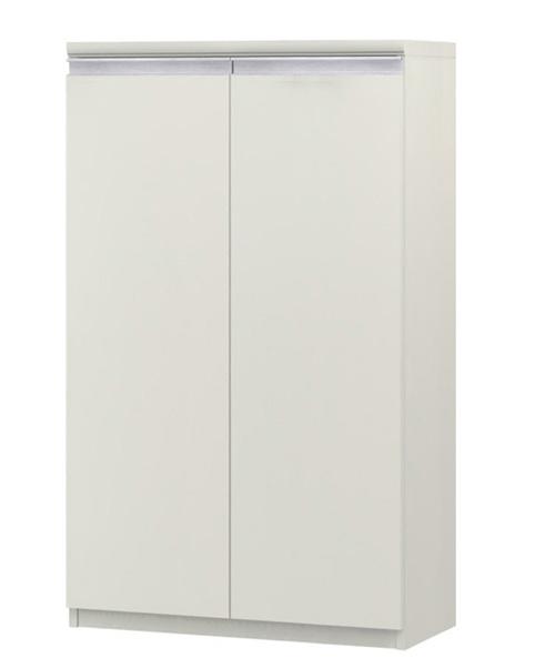 フラット扉オーダー書棚 高さ117cm幅60~70cm奥行46cm 両開き フラット扉付客室棚