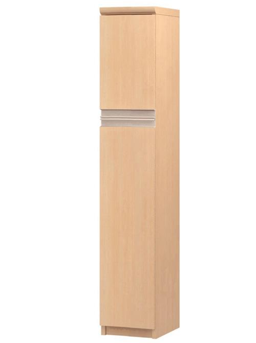 フラット扉コミック収納 高さ135cm幅15~24cm奥行19cm 上下共片開き(左開き/右開き) フラット扉付学校ボード