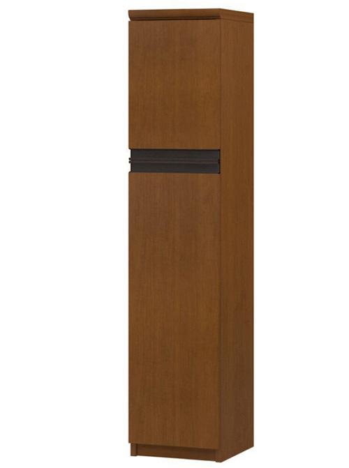 フラット扉扉付き木製整理収納棚 高さ135cm幅25~29cm奥行40cm 上下共片開き(左開き/右開き) フラット扉付事務所シェルフ