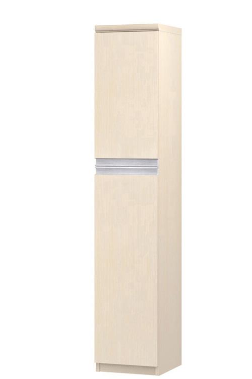 フラット扉スリム収納 高さ149.9cm幅25~29cm奥行19cm 上下共片開き(左開き/右開き) フラット扉付屋根裏部屋収納