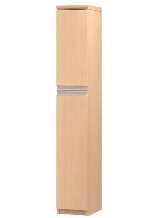 フラット扉リビング隙間収納 高さ149.9cm幅15~24cm奥行46cm 上下共片開き(左開き/右開き) フラット扉付居間ディスプレイ