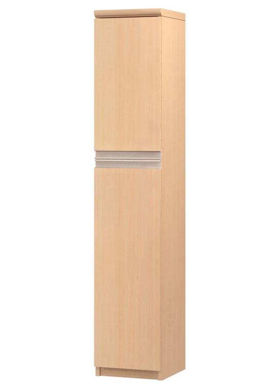 フラット扉リビング隙間収納 高さ149.9cm幅25~29cm奥行46cm 上下共片開き(左開き/右開き) フラット扉付デスク周りボード