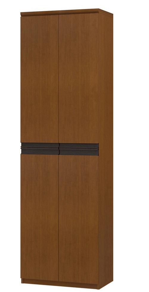 フラット扉オーダー壁面収納 高さ211.1cm幅45~59cm奥行31cm 上下共両開き フラット扉付客室ディスプレイ