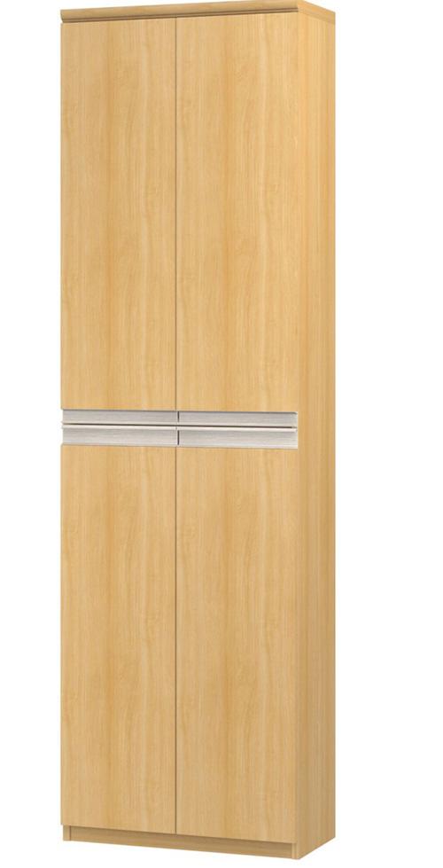フラット扉全面扉付きファイルキャビネット 高さ211.1cm幅45~59cm奥行40cm 上下共両開き フラット扉付ウォークインクローゼット本棚