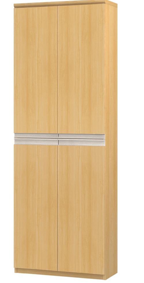 フラット扉全面扉付きファイルキャビネット 高さ211.1cm幅60~70cm奥行40cm 上下共両開き フラット扉付キッチンラック