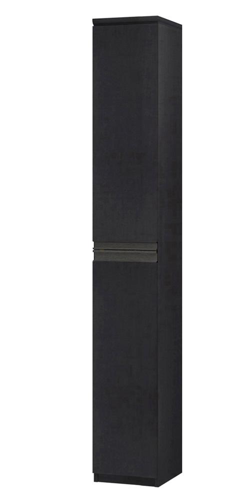 フラット扉リビング隙間収納 高さ211.1cm幅25~29cm奥行46cm 上下共片開き(左開き/右開き) フラット扉付ウォークインクローゼット本棚