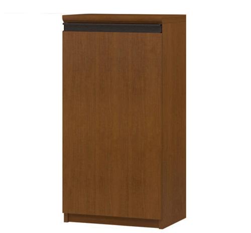 フラット扉オーダー本棚 高さ88.1cm幅30~44cm奥行19cm厚棚板(棚板厚み2.5cm) 片開き(左開き/右開き) フラット扉付寝室家具