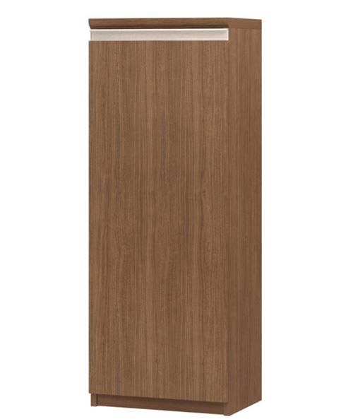 フラット扉オーダー本棚 高さ117cm幅30~44cm奥行19cm厚棚板(棚板厚み2.5cm) 片開き(左開き/右開き) フラット扉付客間シェルフ