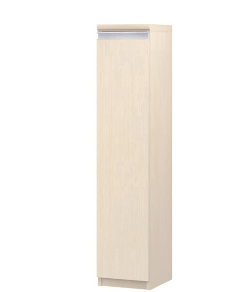 フラット扉扉付隙間収納ストッカー 高さ117cm幅15~24cm奥行40cm厚棚板(棚板厚み2.5cm) 片開き(左開き/右開き) フラット扉付勉強部屋棚