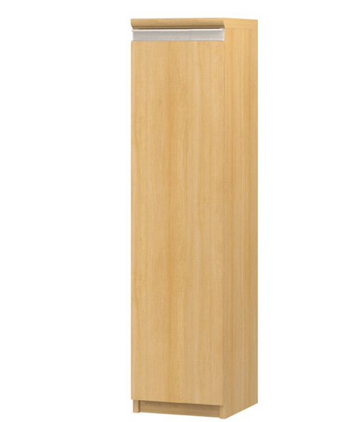 フラット扉壁収納 高さ117cm幅25~29cm奥行46cm厚棚板(棚板厚み2.5cm) 片開き(左開き/右開き) フラット扉付塾棚
