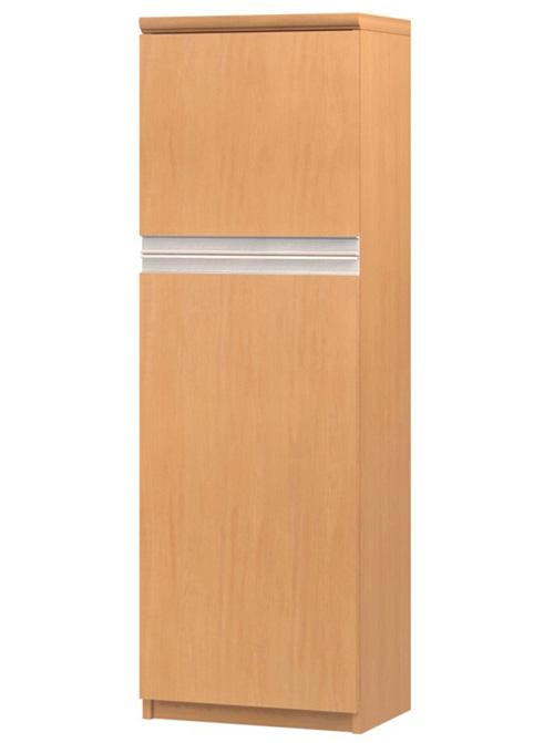 フラット扉オーダー書棚 高さ135cm幅30~44cm奥行19cm厚棚板(棚板厚み2.5cm) 上下共片開き(左開き/右開き) フラット扉付待合室ボード