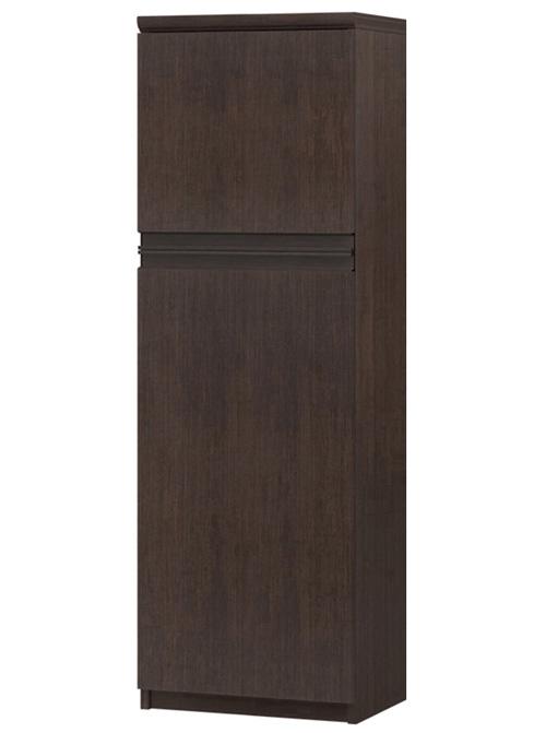 フラット扉キッチン棚 高さ135cm幅30~44cm奥行31cm厚棚板(棚板厚み2.5cm) 上下共片開き(左開き/右開き) フラット扉付待合室家具