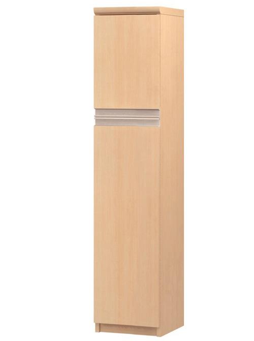 フラット扉壁収納 高さ135cm幅25~29cm奥行46cm厚棚板(棚板厚み2.5cm) 上下共片開き(左開き/右開き) フラット扉付リビングボード