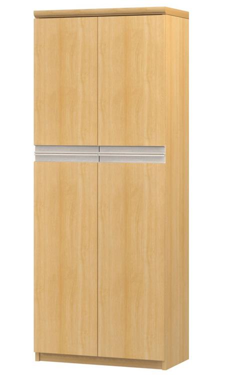 フラット扉オーダー書棚 高さ149.9cm幅45~59cm奥行19cm厚棚板(棚板厚み2.5cm) 上下共両開き フラット扉付待合室ラック