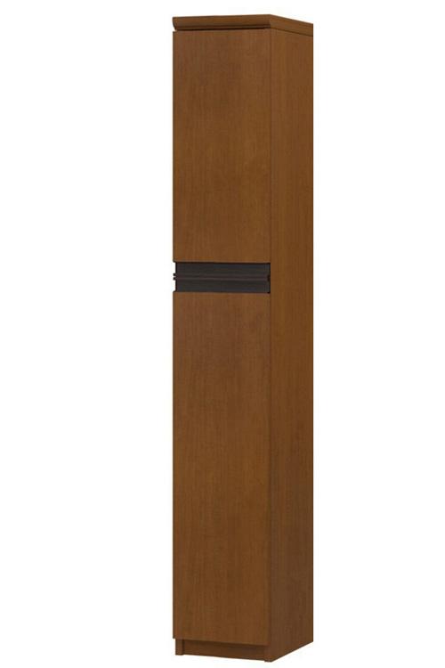 フラット扉リビング隙間収納 高さ149.9cm幅15~24cm奥行31cm厚棚板(棚板厚み2.5cm) 上下共片開き(左開き/右開き) フラット扉付納戸本棚