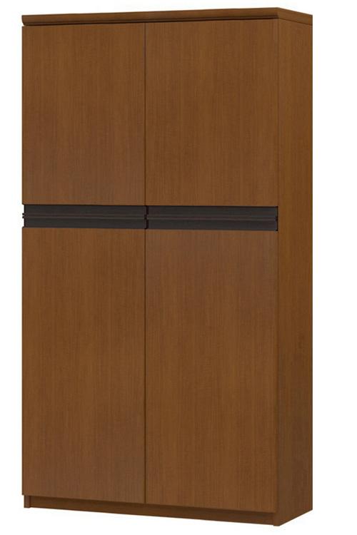 フラット扉壁面本棚 高さ149.9cm幅71~80cm奥行31cm厚棚板(棚板厚み2.5cm) 上下共両開き フラット扉付キッチンラック