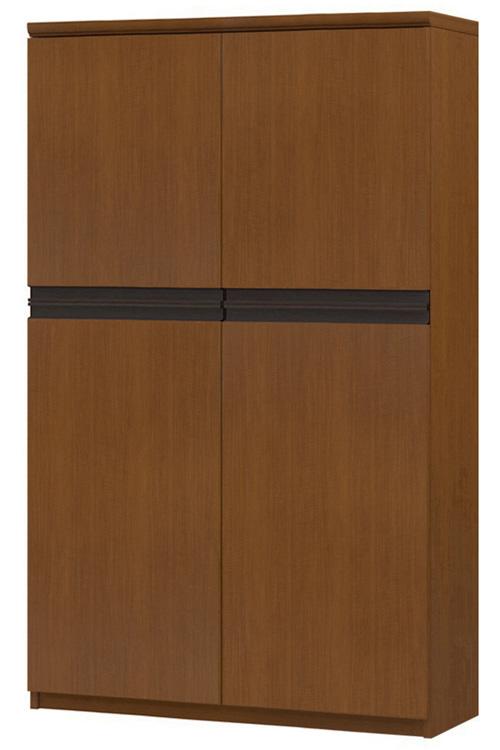 フラット扉壁面本棚 高さ149.9cm幅81~90cm奥行31cm厚棚板(棚板厚み2.5cm) 上下共両開き フラット扉付ウォークインクローゼット本棚