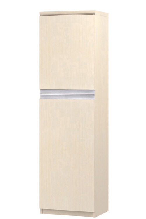 フラット扉壁収納 高さ149.9cm幅30~44cm奥行46cm厚棚板(棚板厚み2.5cm) 上下共片開き(左開き/右開き) フラット扉付リビングボード