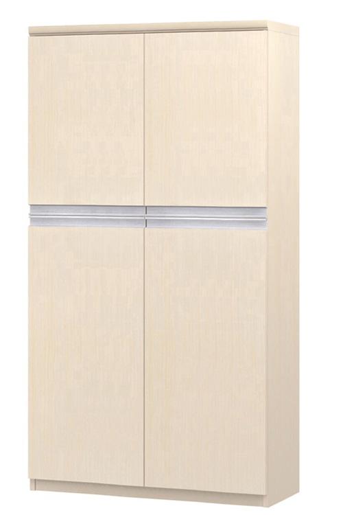 フラット扉オフィス書庫 高さ149.9cm幅71~80cm奥行46cm厚棚板(棚板厚み2.5cm) 上下共両開き フラット扉付図書室ディスプレイ