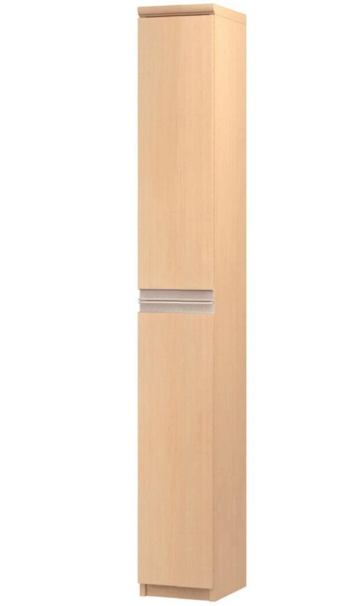 フラット扉すきま飾り棚 高さ178cm幅15~24cm奥行19cm厚棚板(棚板厚み2.5cm) 上下共片開き(左開き/右開き) フラット扉付和室家具