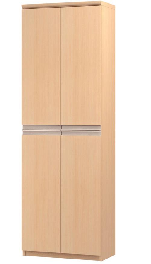 フラット扉オーダー書庫 高さ178cm幅45~59cm奥行19cm厚棚板(棚板厚み2.5cm) 上下共両開き フラット扉付図書コーナーラック