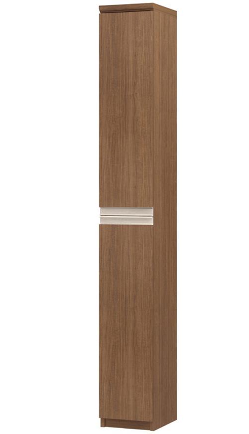 フラット扉リビング隙間収納 高さ178cm幅15~24cm奥行31cm厚棚板(棚板厚み2.5cm) 上下共片開き(左開き/右開き) フラット扉付ダイニング収納