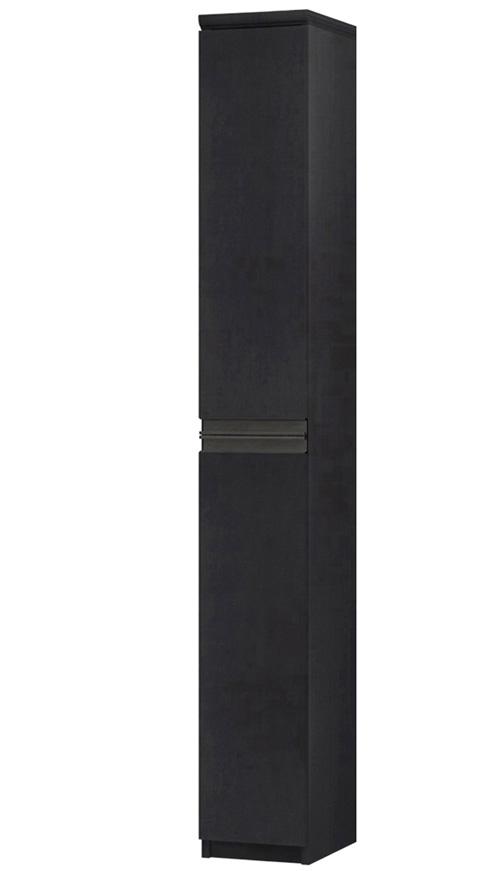 フラット扉全面扉付きA3ファイル収納 高さ178cm幅15~24cm奥行40cm厚棚板(棚板厚み2.5cm) 上下共片開き(左開き/右開き) フラット扉付図書コーナー本棚