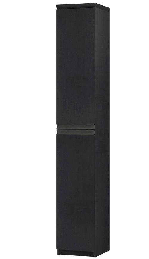 フラット扉全面扉付きA3ファイル収納 高さ178cm幅25~29cm奥行40cm厚棚板(棚板厚み2.5cm) 上下共片開き(左開き/右開き) フラット扉付寝室ラック