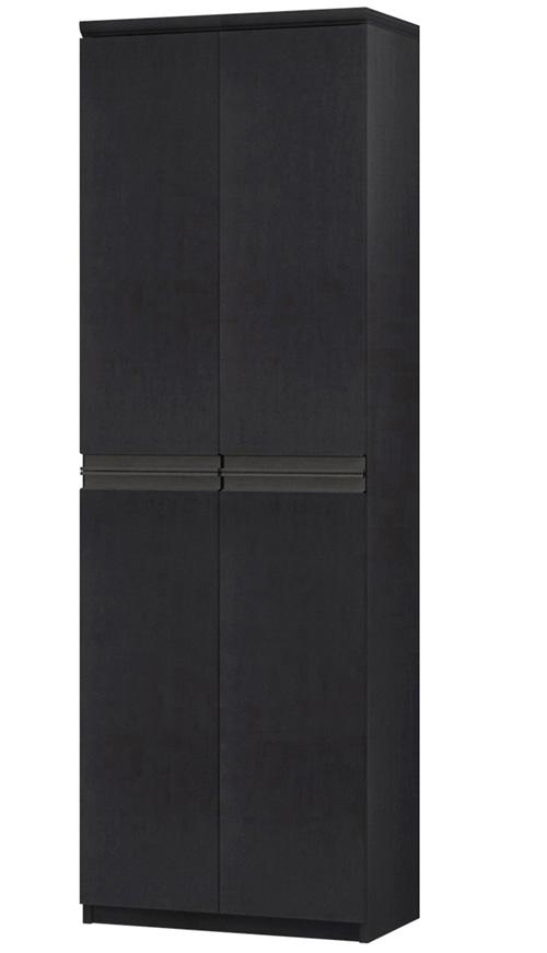 フラット扉全面扉付きA3ファイル収納 高さ178cm幅45~59cm奥行40cm厚棚板(棚板厚み2.5cm) 上下共両開き フラット扉付デスク周りボード