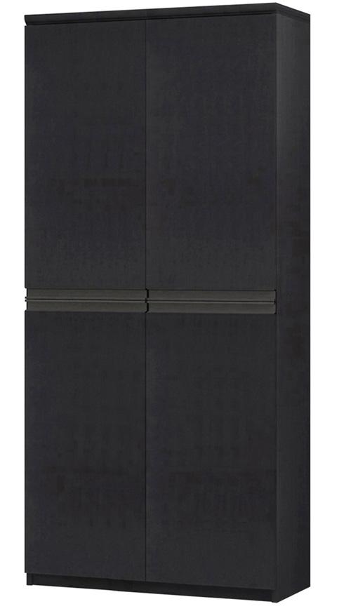 フラット扉全面扉付きA3ファイル収納 高さ178cm幅71~80cm奥行40cm厚棚板(棚板厚み2.5cm) 上下共両開き フラット扉付応接間本棚