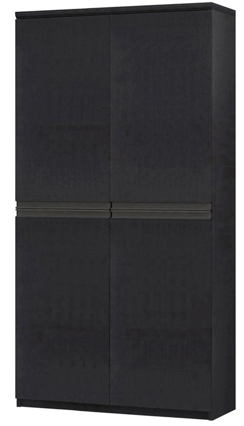 フラット扉全面扉付きA3ファイル収納 高さ178cm幅81~90cm奥行40cm厚棚板(棚板厚み2.5cm) 上下共両開き フラット扉付和室家具